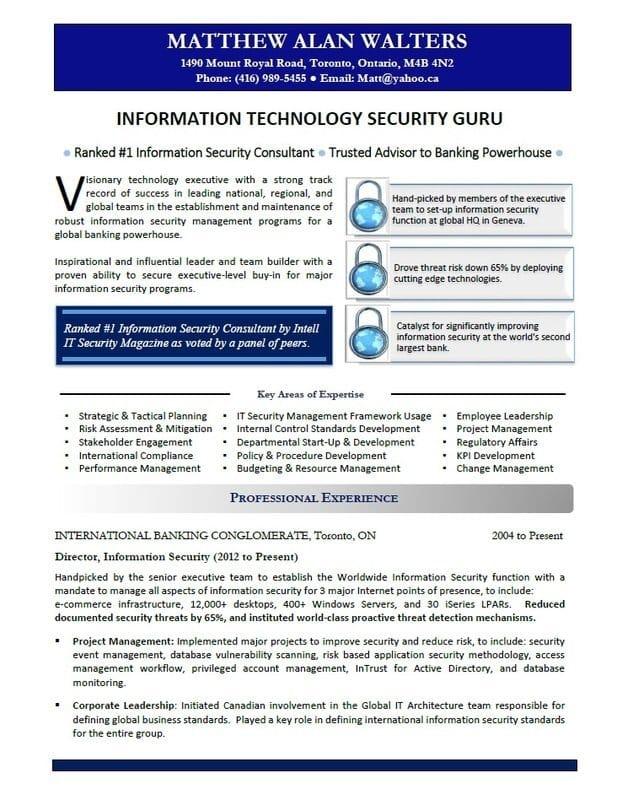 Calgary Resume - IT Resume Sample