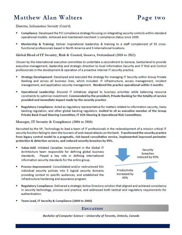 Best Resume Services Calgary - IT Resume Sample